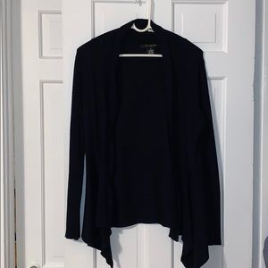 Navy Blue Open Cardigan - Size Small